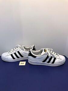 Women s ADIDAS White 3 Black Stripes SUPERSTAR Shoes 9.5 Sneakers ... ba7baffeb2