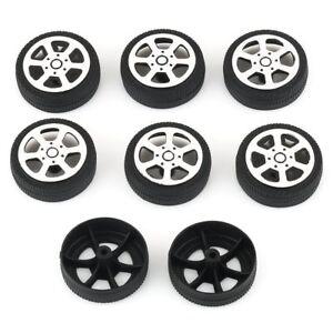 US 8pcs 30*9*1.9mm Plastic Car Tire Toy Wheels Model Robot Part for DIY