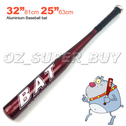 "32/""81cm//25/""63cm Aluminium Baseball Bat Racket Softball Outdoor Sports Brand New"