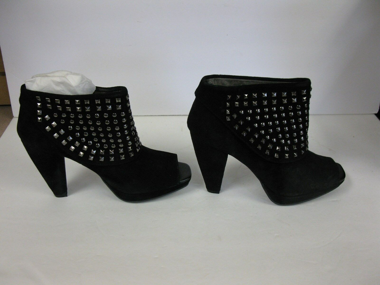 KENNETH COLE REACTION BLACK ANKLE BOOTS