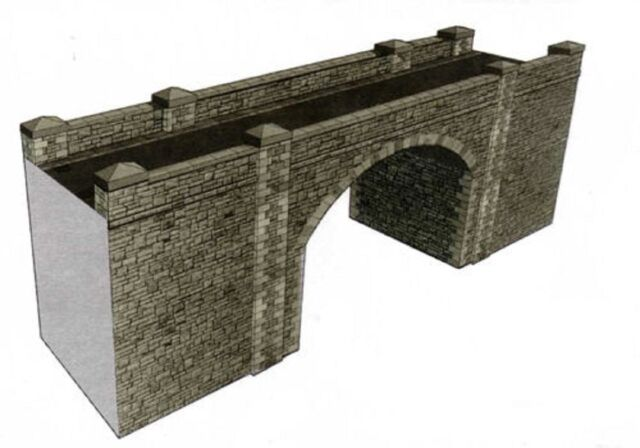 SUPERQUICK A16 STONE BRIDGE / TUNNEL ENTRANCE OO CARD KIT SUIT PECO HORNBY ETC