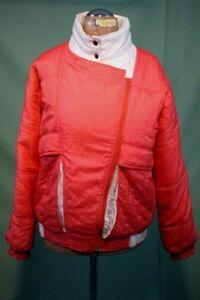 Treu-vintage-Ski-Jacke-90er-38-M-lachs-rot-Damen-Anorak-oldschool-Nylon