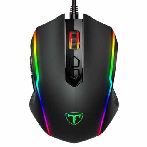 Wired 7200 DPI Ergonomic Optical Gaming Mouse 8 Programmable Buttons RGB Backlit