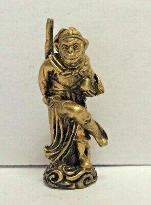 Amulet brass figurine statuette Hanuman  origin Asia h4