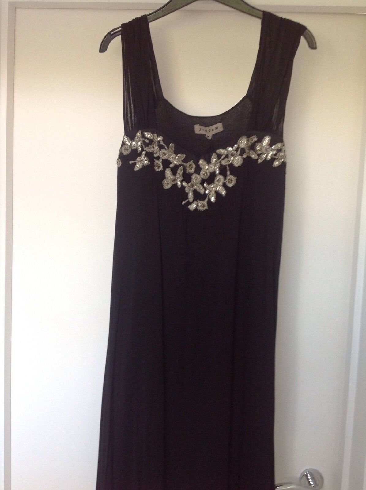 Jigsaw Gold embroiderot  schwarz swingy dress tunic
