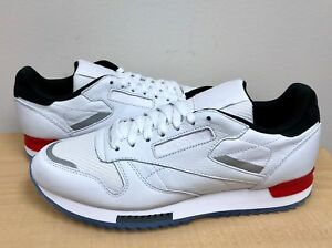 a915f9f1f2 MENS REEBOK CLASSIC LEATHER RIPPLE LOW BP White Black Primal Red ...