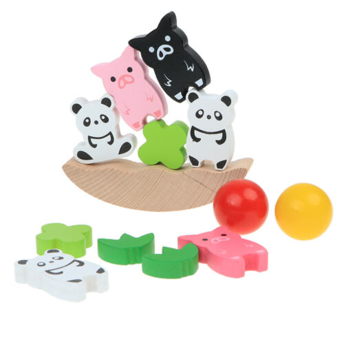 Stacking Animal Tower Building Block Baby Child Toys Wooden Balance Puzzle