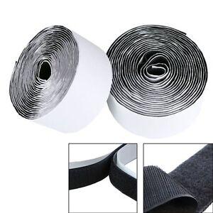 heavy duty self adhesive sticky back hook loop fastening tape black or white ebay. Black Bedroom Furniture Sets. Home Design Ideas