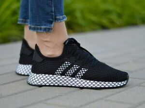 Details about Adidas Originals Deerupt Running Shoes Black/White Youth Shoe  Size 5.5 CG6840
