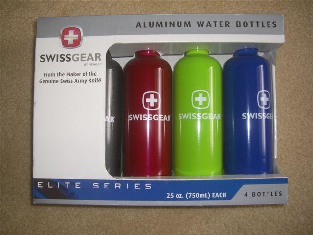 Swissgear Wenger Water Bottles 4 Bottles 25 ounce  NIB  free shipping!