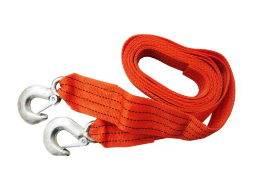 Tow Towing Pull 2 tonnes 2t Strap Rope Heavy Duty Hooks Recovery Car Van SUV