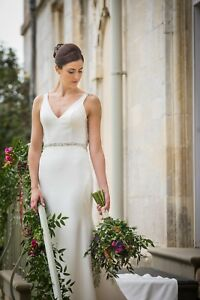 Image Is Loading Martina Liana Designer Sheath Plain Wedding Dress 756