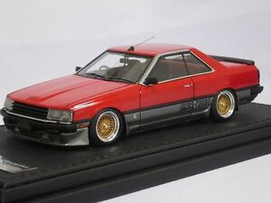 ignition model 1 43 nissan skyline 2000 rs turbo r30 red silver