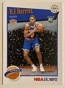 2019-20 Hoops RJ Barrett Holiday Parallel Rookie SP RC #298 Knicks Duke Winter
