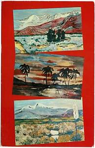 VINTAGE-1950-039-s-PAINTINGS-BY-MOUTH-ARTIST-NYLA-THOMPSON-POSTCARD-UNUSED