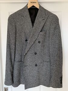 REISS-Homme-Hounds-Tooth-Boutonnage-Double-BALZER-UK-36-RRP-295