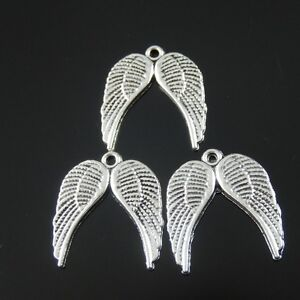 50pcs-Antiqued-Silver-Vintage-Alloy-Angel-Wing-Pendant-Charms-38318