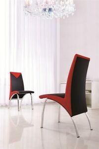 SET-OF-6-DESIGNER-LEATHER-CHROME-DINING-ROOM-CHAIRS-FURNITURE-4-COLOURS-IJ614