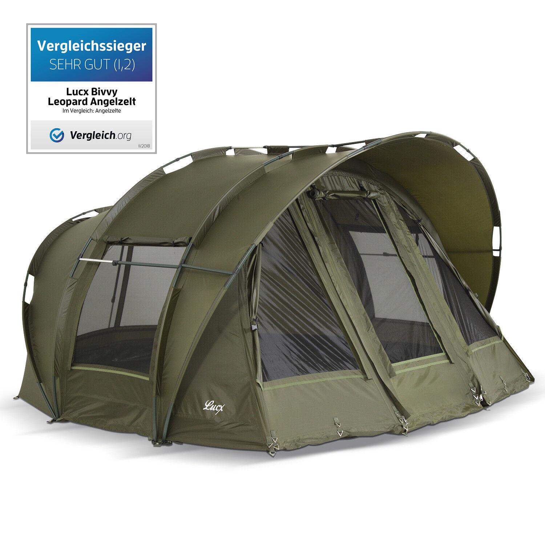 Lucx Bivvy 2 & 3 Man Fishing Tent Carp Tent Leopard Carp Dome Tent New