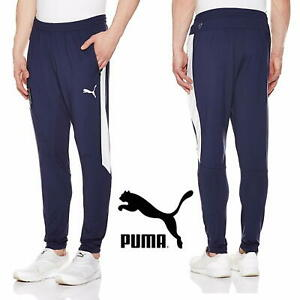 10dd9fcfccd7 PUMA FIGC ITALY Stadium Pants Men s Tapered Track Bottoms Navy ...