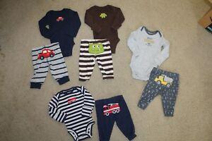 Euc Carter S 8pc Baby Boy Clothes Lot Newborn Ebay