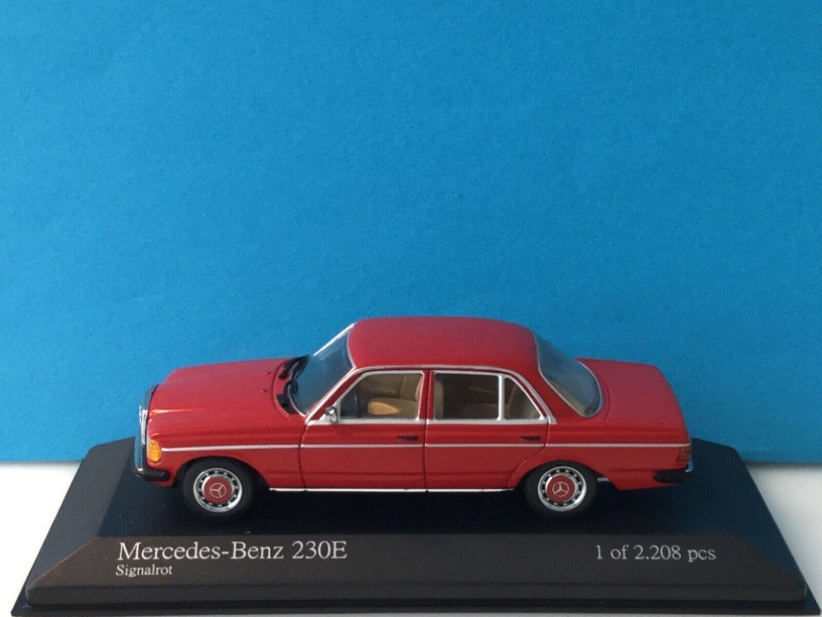 Minichamps 1:43 Mercedes-Benz 230 E 1976 Red Modell Nr. 430 032206