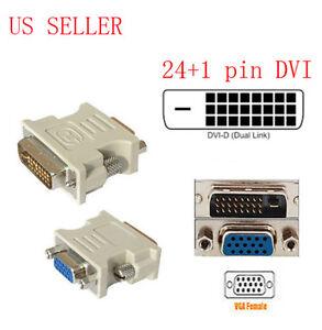 Dvi D To Vga Converter Cable: DVI-D 25 PIN MALE TO VGA 15 PIN FEMALE CONVERTER VIDEO ADAPTER_HIGH rh:ebay.com,Design