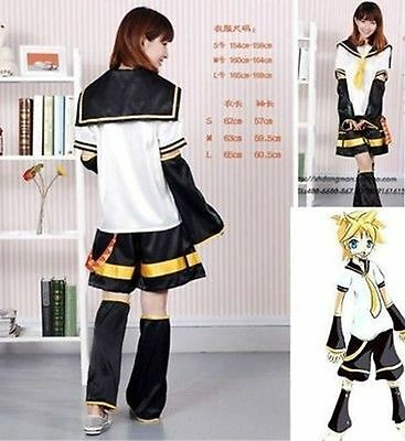 NEW Vocaloid Kagamine Len Original Default Cosplay Costume