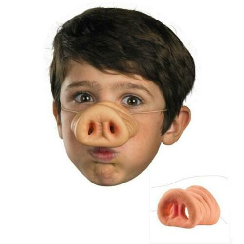 Pig Nose Band Costume Latex Snout Adult Child Halloween Funny Trick Gift BT3