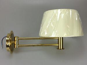 B M Leuchten Wandlampe Wandleuchte Schwenkbar Messing Lampe Leuchte