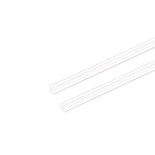 """4mm X 20/"""" Tige  Acrylique Carré Ronde Phénolique Transparent Pmma 2Pcs"""