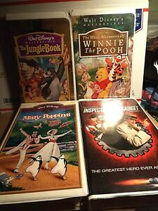 Mary Poppins Inspector Gadget Jungle Book Winnie The Pooh 4 VHS Disney Movies