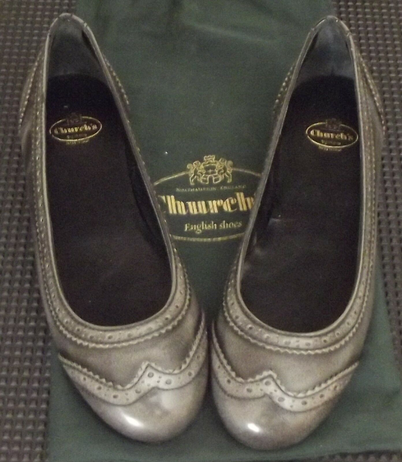 Scarpe Shoes Donna CHURCH Ballerine ANNE Smoke 36,5 IT