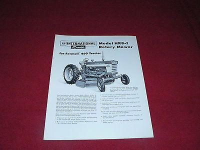 International Harvester HR8-I Rotary Mower 460 Tractor Dealer/'s Brochure