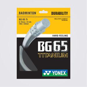 Yonex BG-65 Ti Badminton String Set (043DS)