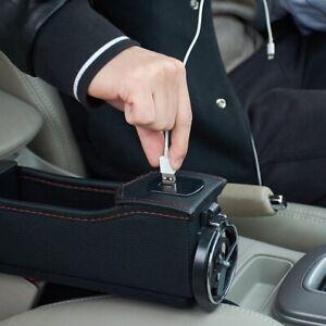Black Car Seat Seam Bag Pocket Holder Storage Pouch Box Phone Case Organizer Hot