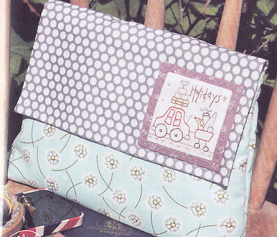 My Holiday Bag - pretty stitchery & pieced PATTERN - Hatched & Patched
