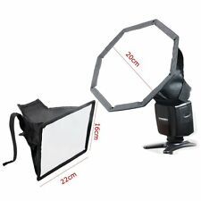 "MF20MF1622 20cm 8"" Octagon +16x22cm Speedlight 6.3""x8.6"" Difusor de Flash Softbox"