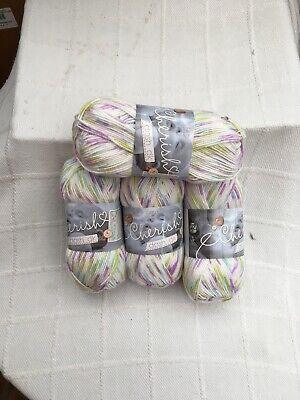 King Cole Baby DK Knitting Yarn 400 Grams  4 Balls Cherish Dash Tropical Crush
