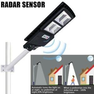 3600W 966 LED PIR Motion Sensor Solar Street Light Outdoor Wall Lamp+Remote