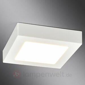led deckenleuchte rayan lampenwelt quadratisch badezimmer led deckenlampe ip44 ebay. Black Bedroom Furniture Sets. Home Design Ideas