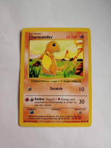 NM Shadowless Charmander 46//102 Base Set Pokemon Card1999