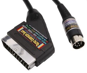 SNK-Neo-Geo-CD-CDZ-amp-AES-High-Quality-RGB-Scart-Lead-Video-Cable-TV-Lead-2mtr