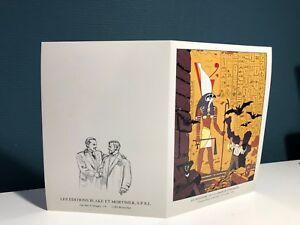 Carte Postale Double CP Blake et Mortimer Le Mystère de la Grande Pyramide