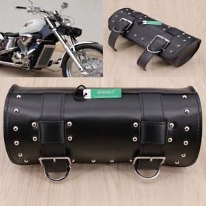 d60444ec3fcd Motorcycle Faux Leather Tool Roll Pouch Saddle Bag Storage For ...