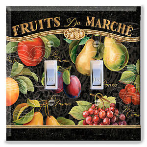 Light Switch Plate Cover Apple Pear Fruit Market French Kitchen Home