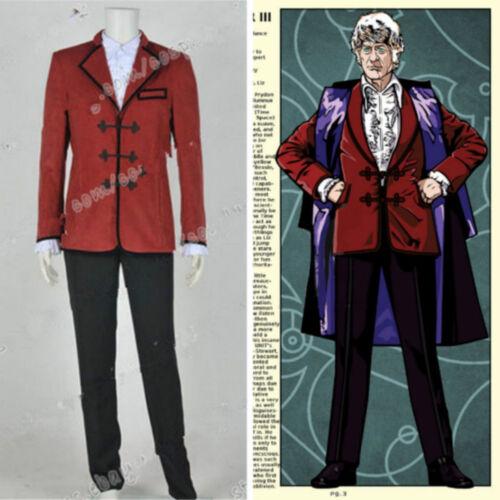 Hot Doctor Cosplay Who The 3rd Third Dr Jon Pertwee cosplay Costume custom NN.95