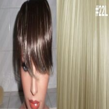 Clip in on Fringe Hair Extension Bangs Champagne Blonde #22
