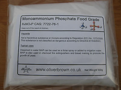 500g Mono Ammonium Phosphate Fertilizer - Crystal Making - Yeast Growth