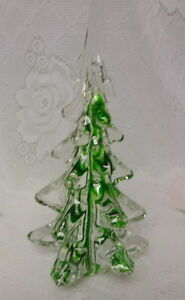 Image Is Loading Vintage Green Ribbon Swirl Crystal Solid Art Glass
